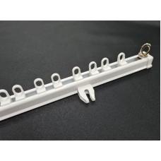 Gordijn Rail Wit Aluminium